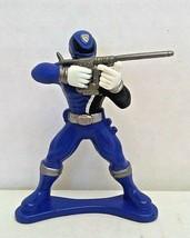 Power Rangers SPD Dekaranger Blue Ranger PVC Figure 2.5in 2005 Bandai Used - $12.00