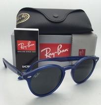 New RAY-BAN Sunglasses RB 2180 6165/87 49-21 Transparent Blue Frame w/ Grey Lens
