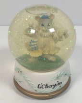 VIDEO San Francisco Music Box Snow Globe Rabbi Mouse L'Chayim Plays Hava... - $28.47