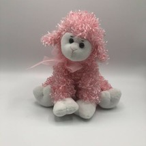 "Animal Adventure Pink  Lamb Silky Curly Pink Fur 10"" Stuffed Animal Shee... - $10.11"