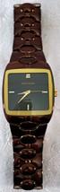Waltham men's watch Gloss brown with gold plated bezel 12 o clock diamond marker - $49.99