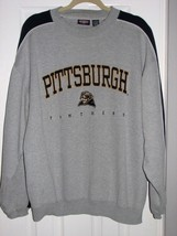 Men's PITTSBURGH PANTHERS Embroidered Sweatshirt PITT Logo NCAA Sports L... - $10.95