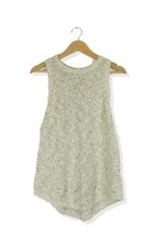 H&M beige & grey sleeveless jumper top Size M - $12.92