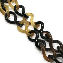 18K YELLOW GOLD LONG NECKLACE, HORN, AMBER, EBONY, 1 METER, 39.4 INCHES image 5