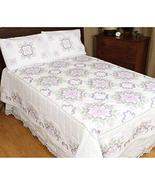 Jack Dempsey Stamped White Quilt Top-XX Colonial Fabric - $79.99