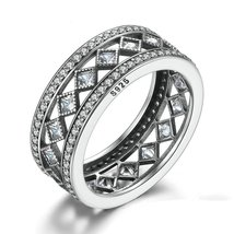 Square Vintage Fascination, Clear CZ Big Ring For Women Luxury Fashion J... - $20.99
