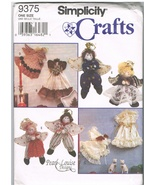 Simplicity Crafts 9375 Stuffed Animal Doll Toys Sewing Pattern - $9.95