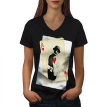 Mysterious Poker Casino Shirt Casino Fun Women V-Neck T-shirt - $12.99+