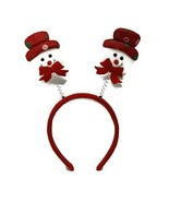Snowman Boppers Headband Winter Christmas Hat Festive One Size Costume A... - $1.73