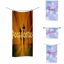 New Bath Towel Disney Pocahontas Face Hand Bath Bathroom Soft Towel - $27.71