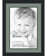 16x24 / 16 x 24 Picture Frame Satin Black 2'' Wide with a 2'' Double mat - $51.85