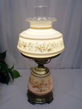 Vintage Quoizel Hurricane Table Lamp Abigail Adams 3 Way Floral C-266BA 1978 - $150.00