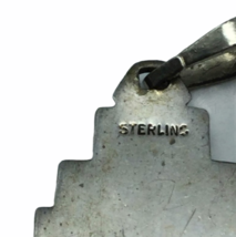 Stunning 925 Sterling Silver Crystal Enamel Art Deco Pendant Jewelry 7.5gr image 5
