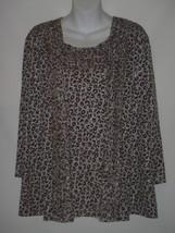 Size 2  12-14 Travelers Chicos Gray Taupe Animal Print Jacket Tank Set R... - $46.53