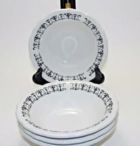 Homer Laughlin Black Scroll Bowls (6 1/4 inches) (set of 4)  - $40.00