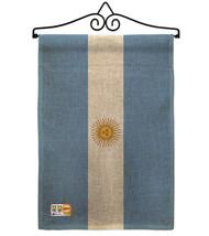 Argentina Burlap - Impressions Decorative Metal Wall Hanger Garden Flag ... - $33.97
