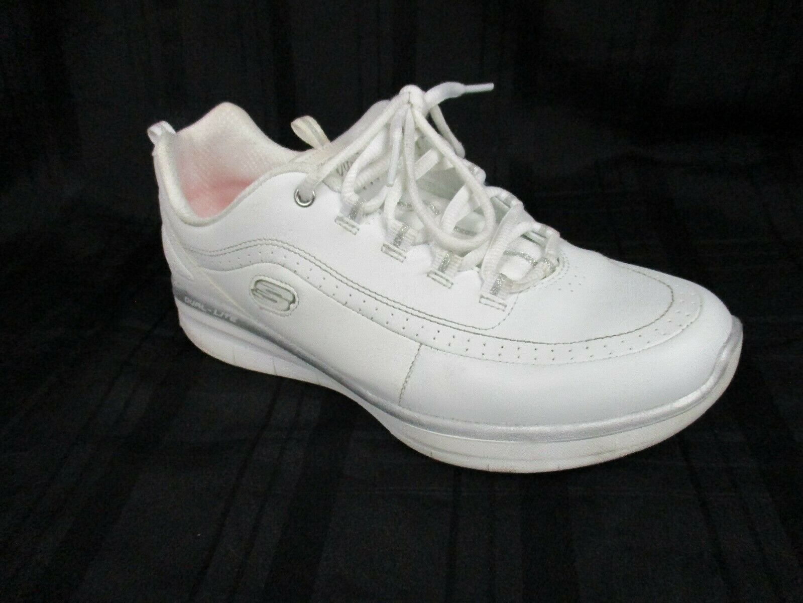 Skechers Sport Women's Synergy 2.0 Fashion Sneakers Memory Foam White Sliver 10