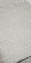 Martha Stewart Full/Queen Size Velvet Flourish Quilt, Color Gray - $89.99