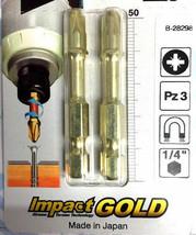 Makita B-28298 Pack of 2 Impact GOLD Torsion Bit 50MM PZ3 Screwdriver - $6.39
