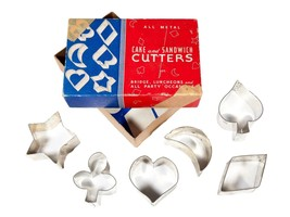 Vintage Cookie Cutters in Original Box - Set of 6 Metal Cookie/Cake/Sand... - $9.50