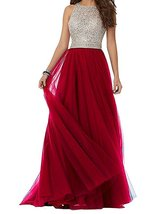 Red Long Prom Dresses Open Back,Formal Dress,Homecoming Dress Long Custom - $179.00