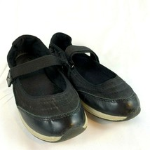 Lands End Womens Black Size 8.5 M Mary Janes Flats Shoes Hook & Loop Fastening - $24.24