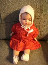 """Antique, Reliable, 18"""" Composition Baby Doll in Red Dress - $56.95"""