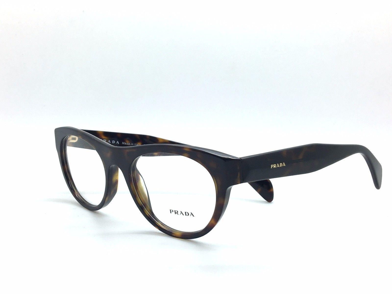 e6de897529b Prada Eyeglasses VPR 02Q 2AU-101 Havana Tortoise Frame Italy New 52mm  Authentic