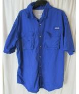 World Wide Sportsman Short Sleeve Button Front Fishing Shirt Mens XL EUC - $18.80