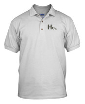 Ho 3 Ho Ho Christmas Embroidery Embroidered 100% Cotton Polo Shirt Top  - $87.00