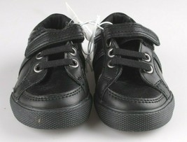 Cat & Jack Toddler Boys' Huxley Black Faux Leather Sneaker Shoes 6 US NWT image 2