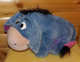 Disney Mattel Heavy Plush BIG Winnie Pooh Eeyore Sitting Hoping for Happ... - $12.49