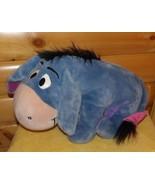 Disney Mattel Heavy Plush BIG Winnie Pooh Eeyore Sitting Hoping for Happ... - $12.49