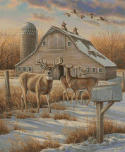Deer Farm Cross Stitch Pattern LOOK - $4.95