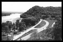 Aerial Boscobel Highway 60 Wisconsin Real Photo Postcard Cook N279 WI RPPC  - $9.50