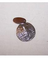 Sterling Silver Sand Dollar Seashell Galveston Charm-7/8 inch across  - $7.50