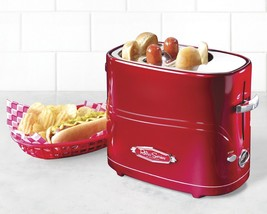 Nostalgia Retro Series Pop-Up Hot Dog Toaster Toasts Two Buns at a Time ... - $30.84