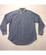 Tommy Hilfiger Men's Medium Blue Collard Long Sleeves Button Down Shirts - $32.65
