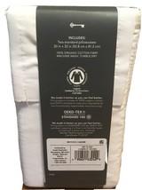 Standard 300 Thread Count ORGANIC Pillowcase Set standard White Threshold NEW! - image 2