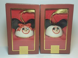 Lenox Disney My Own Mickey Ears Ornaments Mickey & Minnie Ornaments Boy Girl Set - $29.65