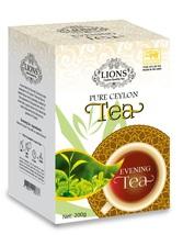 Lions Tea Evening, Pure Ceylon Black Tea Loose Leaf, 200 g - $18.25