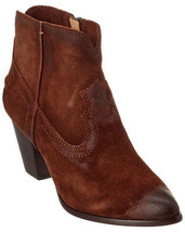 Frye Renee Womens Brown Suede Leather Zip Short Ankle Seam Chukka Boots Bootie - $111.99