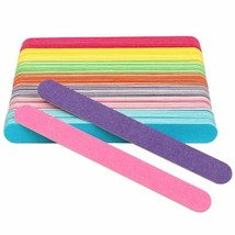Straight Wooden Nail File Candy Color Lime A Ongle Professionel Nail 50p... - $8.51