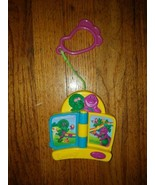 Mattel BARNEY Musical Crib Stroller Toy c2002 EUC Batteries Included  - $14.92