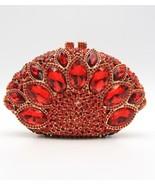 Red Rhinestone And  Crystal Clutch Purse  - $490.50