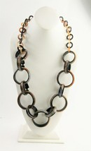 ESTATE VINTAGE Jewelry FABULOUS HORN STATEMENT RUNWAY CHUNKY CHAIN NECKL... - $45.00