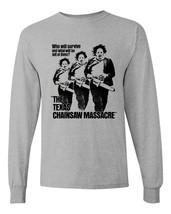 Texas Chainsaw Massacre long sleeve t-shirt retro horror movie graphic tee shirt image 1