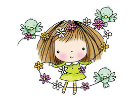 """Penny Black """"Flowers for Mimi"""" Rubber Cling Stamp #261"""