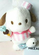 Pochacco Ice cream Shop BIG Plush Doll Pink Sanrio 30cm - $49.59