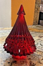 Baccarat Crystal Red Christmas FIR TREE New 2810273 - $217.80